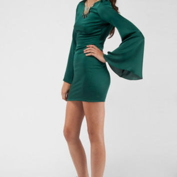 Sexyback Dress in Forest Green :: tobi