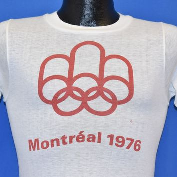 70s Montreal 1976 Summer Olympics t-shirt XS
