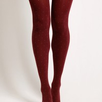Vintage Rose Polka Dot Tights