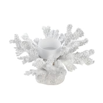 Iron White Coral Candle Holder