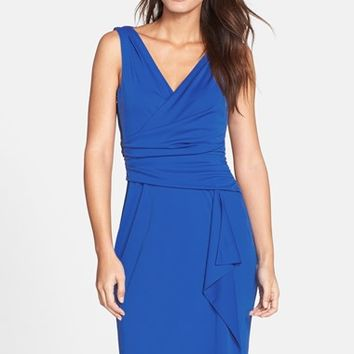 Women's Adrianna Papell Ruched Jersey Sheath Dress