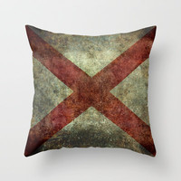 Alabama state flag Throw Pillow by Bruce Stanfield