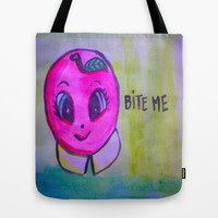 apple Tote Bag by helendeer