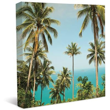 Palm Trees Stretched Canvas