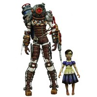 NECA Bioshock 2 Exclusive Ultra Deluxe Action Figure 2Pack Big Sister & Little Sister