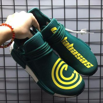 Best Online Sale Pharrell Williams  x Adidas PW HU Human Race NMD Hu Green Boost Sport Running Shoes Classic Casual Shoes Sneakers