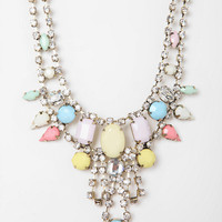 Urban Outfitters - Kissimmee Rhinestone Bib Necklace