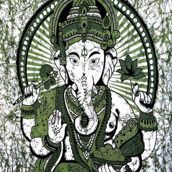 Lord Ganesha Tapestry,Hindu lord  Indian Wall Hanging Bohemian Bedsheet Sofa Bedspread Hippie Wall Art Beach Coverlet College Dorm Decor