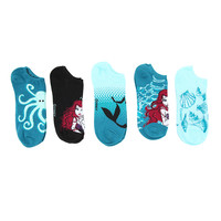 Disney The Little Mermaid No-Show Socks 5 Pack