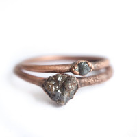 Canadian raw diamond ring | Tiny rough diamond ring | Tiny raw diamond engagement ring | Conflict free diamond | Ethical engagement ring