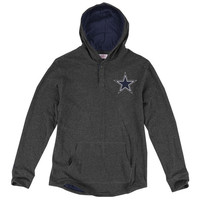 Dallas Cowboys Mitchell & Ness Hooded Long Sleeve T-Shirt – Charcoal