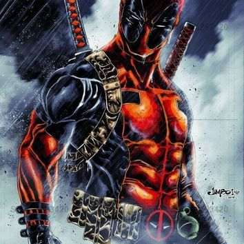 Deadpool Dead pool Taco 5D DIY Diamond Embroidery Hero  Painting Cross Stitch Home Decoration Diamond Mosaic Crafts 3d Kit For Needlework AT_70_6