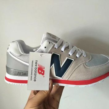New Balance 574 Unisex Sport Casual N Words Retro Multicolor Sneakers  Couple Running Shoes ffa5011724f3