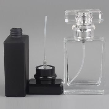 YB-34 30ml transparent glass empty bottle perfume bottle atomizer spray can be filled bottle spray box travel size portable