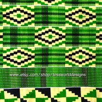 Authentic Kente Print - African Fabric -  Sold by the yard