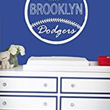 Wall Decal Vinyl Sticker Decals Art Decor Design Baseball Brooklin Dodgers Player Kids Room Children Game Sport Bedroom Nursery (r664)