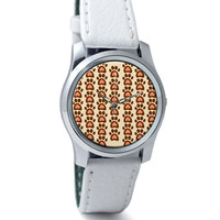 Cute Abstract Feet Pattern Wrist Watch