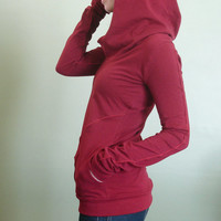 hooded top with pockets Cranberry Red