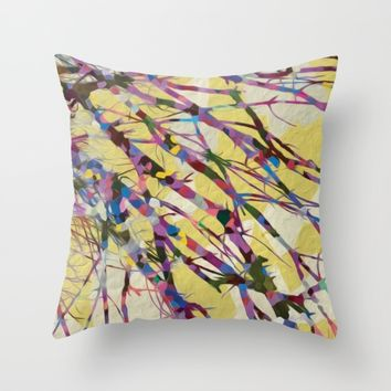 Confetti Branches Throw Pillow by Heidi Haakenson