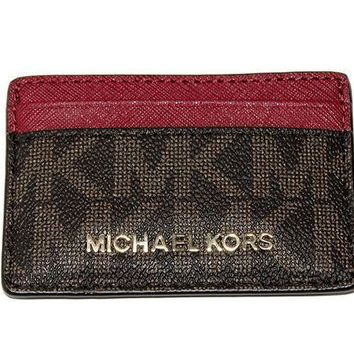 PEAPGQ6 MICHAEL Michael Kors Women's Jet Set Item Card Holder