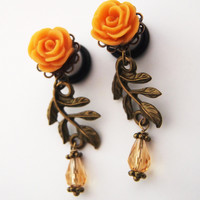 Glamsquared — Smaller Roses on the Vine Dangle Plugs