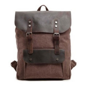Men canvas shoulder bag backpack vertical section square = 1697173572