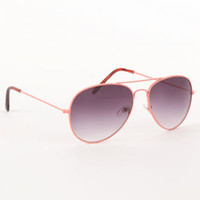 With Love From CA Color Wire Aviator Sunglasses at PacSun.com