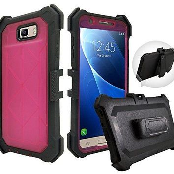 Value Pack + for Samsung J7 2017 Sky Pro PERX J7 V case Crystal Holster Clip Phone Case 360° Armor Screen Cover Protector Shock Bumper Camo