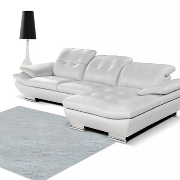 Modern Italian White Sectional Sofa