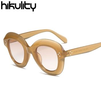 Luxury Retro Sunglass UV400 Shades Vintage Sun Glasses Female Candy Round Sunglasses Women Brand Designer Oculos Lunette Femme