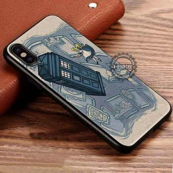Alice in Wonderland Tardis iPhone X 8 7 Plus 6s Cases Samsung Galaxy S8 Plus S7 edge NOTE 8 Covers #iphoneX #SamsungS8