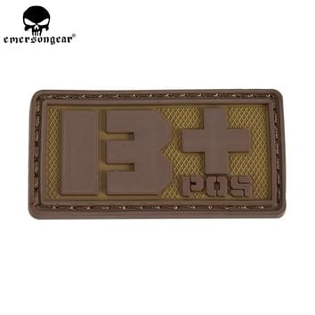 EMERSONGEAR PVC Blood Type Hex Patch Hunting Accessories Wargame Military Tactical Blood Patch Olive Green Black EM5515