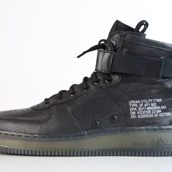 BC KUYOU Nike Air Force 1 SF AF1 Mid Urban Utility Black Tiger Camo QS AA7345-001