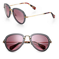 Miu Miu - Teardrop 53mm Aviator Sunglasses - Saks Fifth Avenue Mobile
