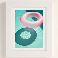 George Byrne Pink & Green #1 Art Print | Urban Outfitters