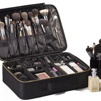 "ROWNYEON Portable EVA Makeup Case-Professional 16.14""/ Make Up Artist Organizer Bag"