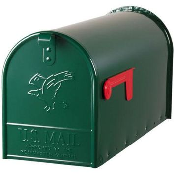 Gibraltar E1600G00 Elite Post Mount Mailbox with Steel Latch, Large, Green