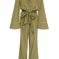 Stretch Cotton Poplin Yerba Mate Jumpsuit | Moda Operandi