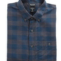 Button-down Collar Shirt in Blue Buffalo Check