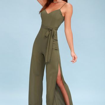 Winning Chic Olive Green Jumpsuit