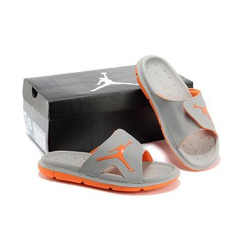 Nike Air Jordan Gray/orange Casual Sandals Slipper Shoes Size Us 7 13 | Best Deal Online