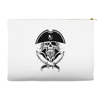 skull with beard Accessory Pouches