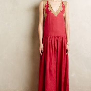 Gold Leaf Maxi Dress by Mes Demoiselles Pink