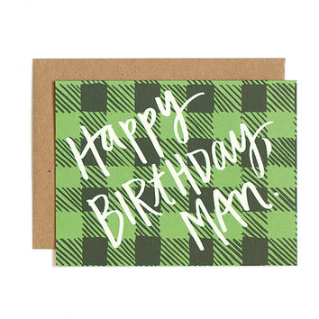 ONE CANOE TWO BIRTHDAY PLAID CARD