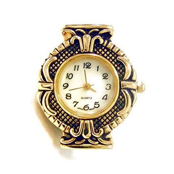 Linpeng Watch Face For Crafts Beading Jewelry Making  24x30mm Oval Silver Frame with Rhinestone EdgeGeneva StyleJapan MovementBattery Included  1pc