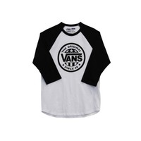 Mens Vans Baseball Tee, Black/White, at Journeys Shoes