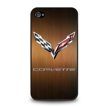 CORVETTE WOODEN LOGO iPhone 4 / 4S Case