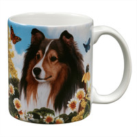 Sheltie Garden Party Fun Mug
