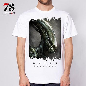 Alien Covenant movie film testament foreign men fashion t shirt clothing male top quality T shirt tops tees