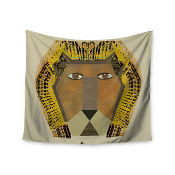 "Bri Buckley ""Lion"" Yellow Orange Wall Tapestry"